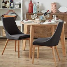 HomeSullivan Nobleton Twilight Blue Linen Dining Chair (Set of 2) 405048SAK-TB2P at The Home Depot - Mobile