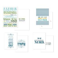 "Because Im The Dad Greeting Card Templates .   Share your sense of humor with Dad and show him how much you appreciate him with a funny card.   Download includes: * Greeting card template (5"" x 7"")  * 3 greeting card templates (4-1/4"" x 5-1/2"")  * 33-piece SVG stamp brush set  * 5 embellishments   Colors:  Baja Breeze, Basic Gray, Gumball Green, Midnight Muse, Summer Starfruit, Whisper White"
