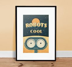Robots+are+Cool+++Vintage+Poster++Retro+Art+by+twenty21onecreative