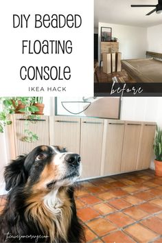 IKEA Hack Console #ikeahack #ivar #floatingconsole Ivar Ikea Hack, Ikea Hacks, Bubbly Bar, Long Walls, Built In Bench, Diy Furniture Plans, Do It Yourself Projects, Woodworking Projects Diy, Building Plans