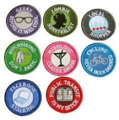 Modern Merit Badges by FourEyesHandmade, $6.00 So Funny!