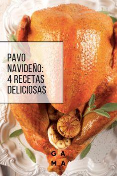 Te dejamos recetas deliciosas, originales y fáciles para cocinar pavo esta Navidad. Deli Food, Food N, Food And Drink, Turkey Stuffing, Thanksgiving 2016, Roasted Meat, Turkey Recipes, Holiday Recipes, Yummy Food