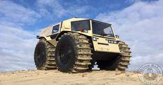 Truk monster Sherp ATV buatan Rusia (foto: Daily Mail)
