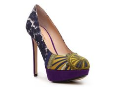 Another fabulous pump. PRINTS this spring/summer! Emilio Pucci Printed Fabric Platform Pump