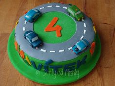 Dort s autíčky Food And Drink, Birthday Cake, Desserts, Tailgate Desserts, Deserts, Birthday Cakes, Postres, Dessert, Cake Birthday