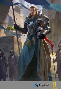 Lieutenant of Defence by Concept-Art-House prince knight soldier platemail helmet spear halberd player character npc | NOT OUR ART - Please click artwork for source | WRITING INSPIRATION for Dungeons and Dragons DND Pathfinder PFRPG Warhammer 40k Star Wars Shadowrun Call of Cthulhu and other d20 roleplaying fantasy science fiction scifi horror location equipment monster character game design | Create your own RPG Books w/ www.rpgbard.com