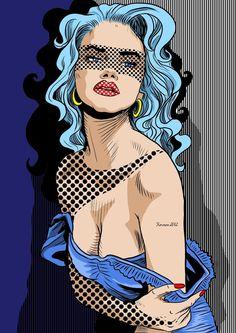 POP art Pin girl by KarmenSanda..♥♥♥♥♥♥...
