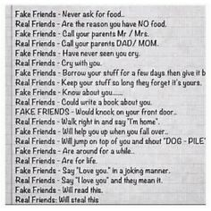 Fake Friends/Real Friends