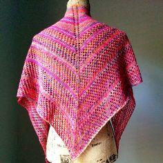Casual Lace Knit Shawl