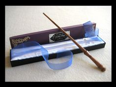 """SOLD. Wand no. 44. This wand is based on Sherlock Holmes, as played by Benedict Cumberbatch in the BBC series """"Sherlock."""" It was hand-carved from a poplar dowel (it had mineral stains already in it..."""