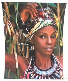 Affiche Poster au Pastel Sec pour Tableau Ethnique, Bohème, Portrait * NADIA * - Création Originale : Affiches, illustrations, posters par diva-divine