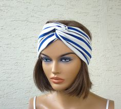 Twist headband fabric headband turban headband by KnitterPrincess