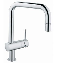 Grohe 32319000 Starlight Chrome Minta Pull-Out Spray Kitchen Faucet: Remodelista