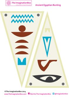 Egyptian bunting template