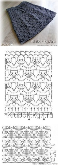 """Firebird"" crochet Belgorod # Belgorod # knitting # Zharptitsa # crochet The p … – Range Vegetables Bloğ Crochet Skirt Pattern, Crochet Skirts, Crochet Diagram, Crochet Stitches Patterns, Crochet Chart, Baby Knitting Patterns, Crochet Motif, Crochet Clothes, Knit Crochet"