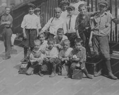 New York City Bootblack Shoeshine Boys 8x10 Reprint Of Old Photo