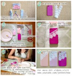 Finally how to for this phone case that I see on Etsy!