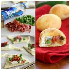 Crescent Roll Bacon Jalapeno Bites...perfect for Superbowl Game Day! #recipes #appetizers #easy