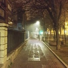"""Paseo del terror #madrid  #fog #silenthill"""