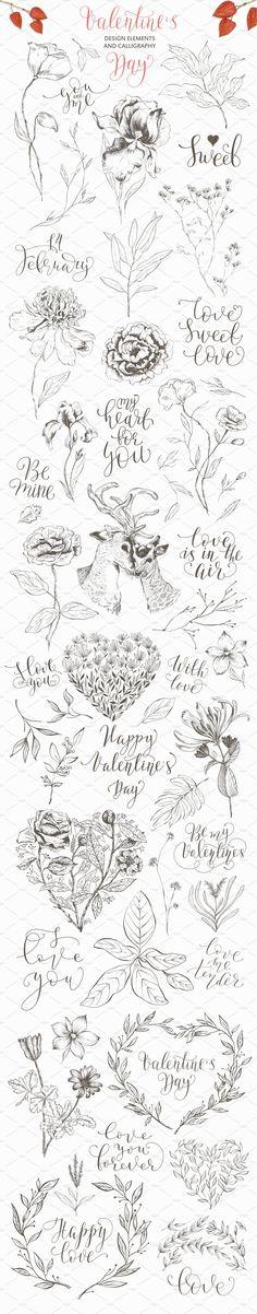 Valentine's Day. Romantic set by OlgaAlekseenko on @creativemarket