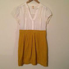 Anthropologie mustard yellow corduroy dress #Swapdom