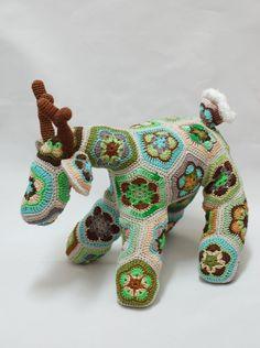 African Flower Crochet Deer Forest Fairy Tale van ZayaLosya op Etsy