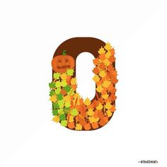 Day 15 #o for #36daysoftype in spanish #autumn is #otoño and well in Mexico is not soo #orange but :) #illustration #artwork #illustrations #vectorart #vectorgraphic // Día 15 #otoño #36diasdetipos o #36diasilustrando con #hojitas amarillas y verdecitas el #frío :)