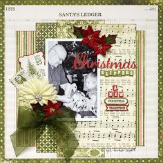 Layout: Christmas Slippers - My Creative Scrapbook