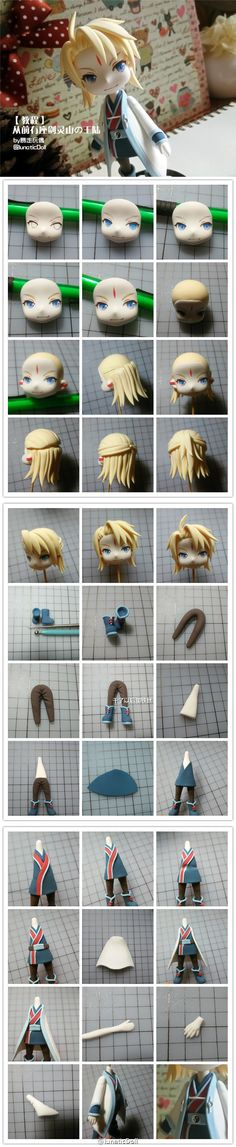 Fimo, anime, polymer clay, kawaii