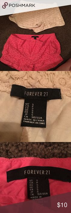 2 for the price of 1 worn flowery shorts. good condition Forever 21 Shorts Jean Shorts