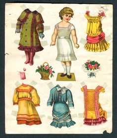 Uncut Antique Paper Doll D2036 | eBay
