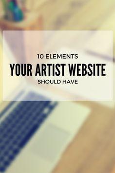 10 Elements Your Artist Website Should Have