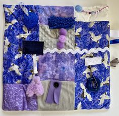 Excited to share this item from my #etsy shop: Fidget Blanket for Alzheimer's, Fidget Quilt, ASIAN CRANES BLUE by Restless Remedy Dementia Care, Alzheimer's And Dementia, Saving Coins, Fidget Blankets, Fidget Quilt, Custom Quilts, Alzheimers, Etsy App, Crane