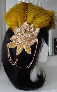 headpiece-chain addition and rhinestones down spine