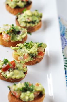 Wholly Guacamole Crostini       Directions:  1. Set oven to broil.    2. Slice the bread into 1/4 inch slices and place on a baking sheet.    3. Toast the bread under the broiler until nice and brown. Remove from the oven, allow to cool and then top with the guacamole
