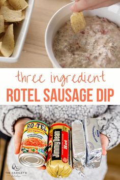 Rotel Dip With Sausage, Hot Sausage, Cream Cheeses, Dip Recipes For Parties, Easy Dip Recipes, Chip Dip Recipes, Chip Dips