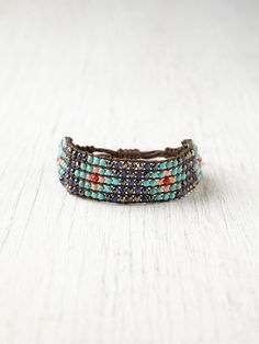 Free People Narrow Beaded Friendship Bracelet