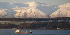 The Ochil Hills - on a clear day we could see them right over the Forth from the top of Rainhill/California Rd.