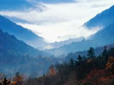 Great Smokey Mountains, Tennessee.  Yes, I was close to this type of view everyday from age 6-8.  That was a pretty cool place to spend part of my childhood.
