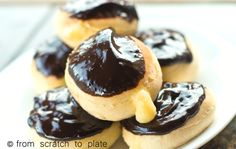 Boston Cream Donut Recipe- use almond/coconut flour combination instead of flour. Stevia in instead of sugar. Wheat belly frosting recipe instead of frosting. Omit cornstarch. Viola Gluten free, sugar free cream filled donut!
