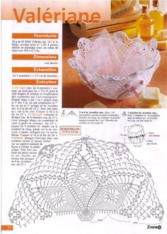 Best 12 Kira scheme crochet: Scheme crochet no. Art Au Crochet, Crochet Bowl, Crochet Basket Pattern, Crochet Stars, Crochet Doily Patterns, Crochet Borders, Crochet Diagram, Thread Crochet, Filet Crochet