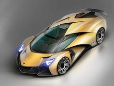 Lamborghini Encierro Concept Design Sketch Render