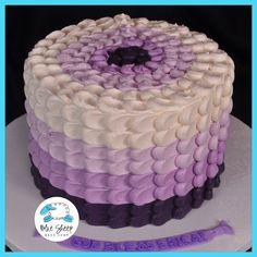 Ombre Buttercream Petal Cake | Blue Sheep Bake Shop