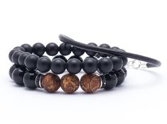 Wristbands & Bracelets – Set bracelets BA889 – a unique product by Blackif on DaWanda