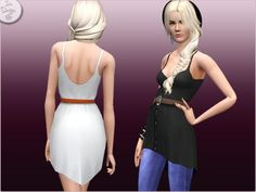 new dress for your ladies :D Found in TSR Category 'Sims 3 Female Clothing' Dress For You, New Dress, Asymmetrical Dress, Formal Wear, Female Clothing, Buttons, Fashion Outfits, Sims 3, Clothes For Women