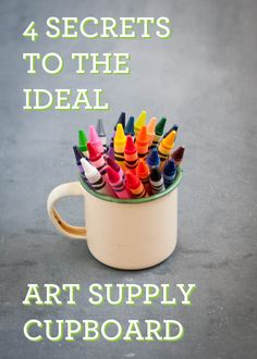 4 secrets to the ideal art supply cupboard.