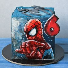Spiderman Birthday Cake, 1st Birthday Cakes, Superhero Cake, Creative Cake Decorating, Birthday Cake Decorating, Cake Decorating Techniques, Baby Boy Cakes, Cakes For Boys, Bithday Cake