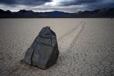 Sailing Stones in Death Valleys Mojave Desert; an unexplainable phenomenon that only occurs in this valley