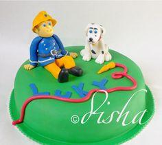 Fireman Sam with dog Radar cake (dort Požárník Sam a Radar)
