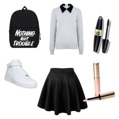 """""""Updatet version of Hermione Granger"""" by unicornlena on Polyvore featuring Edit, NIKE, Max Factor and By Terry"""
